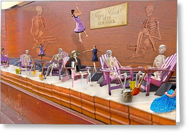 Skeleton Keys Greeting Card by Betsy C Knapp