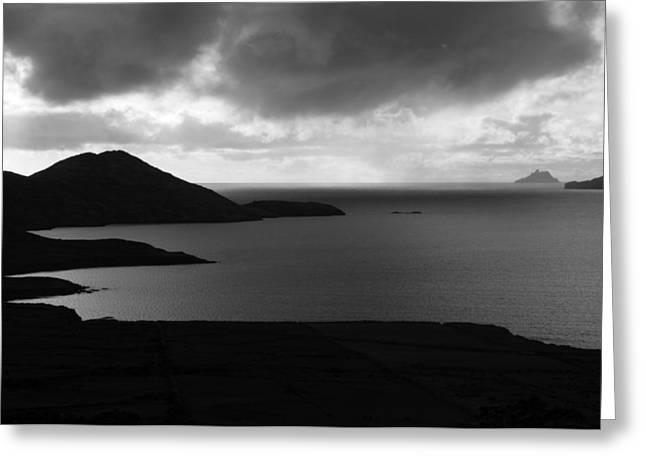 Rural Images Greeting Cards - Skellig Island View  Greeting Card by Aidan Moran