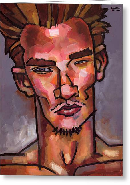 Face Greeting Cards - Skeptic Greeting Card by Douglas Simonson