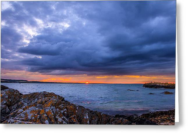 Sunset Prints Of Ireland Greeting Cards - Skerries Sunset  Greeting Card by John Hurley
