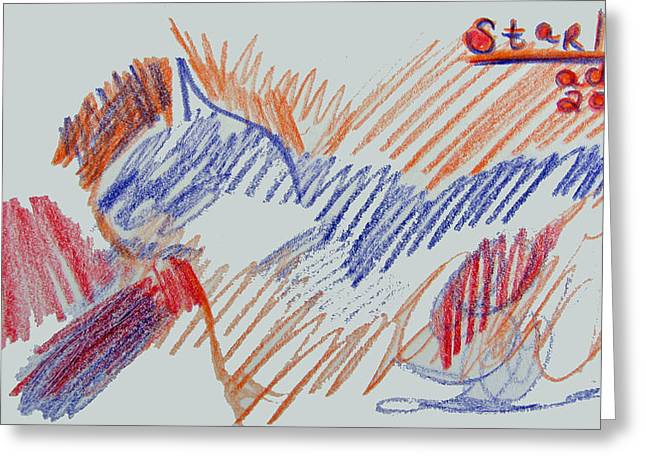 Sketchbook Greeting Cards - Sketch of Starlight Greeting Card by Anita Dale Livaditis