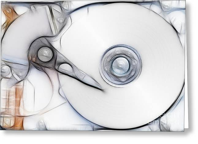 sketch of the hard disc Greeting Card by Michal Boubin