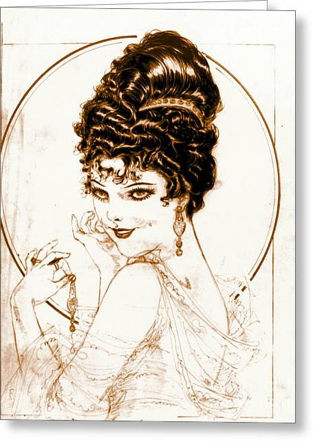 Hamels Photographs Greeting Cards - Sketchy Look 1919 Greeting Card by Padre Art