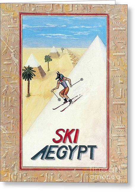 Recently Sold -  - Horus Greeting Cards - Ski Aegypt Greeting Card by Richard Deurer