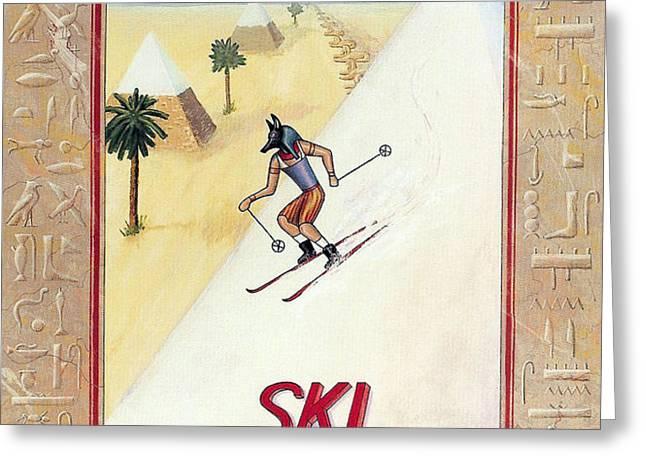Ski Aegypt Greeting Card by Richard Deurer