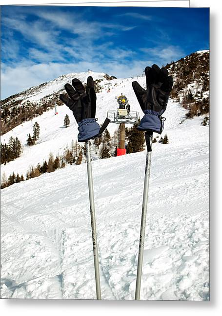 Pause Greeting Cards - Ski break Greeting Card by Sinisa Botas