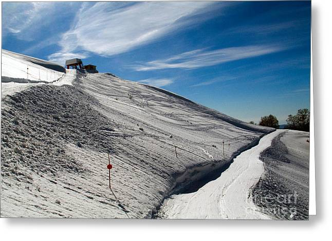 Ski Hill Greeting Cards - Ski Hill, Italy Greeting Card by Tim Holt