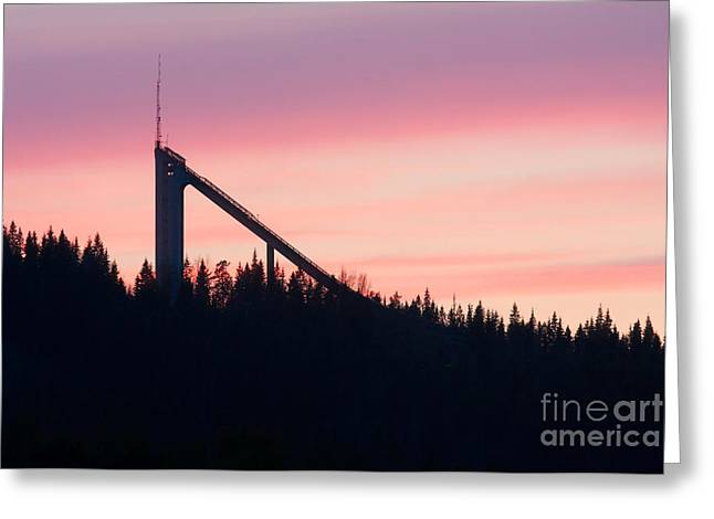Ski Place Greeting Cards - Ski Jump Greeting Card by Peter Gudella