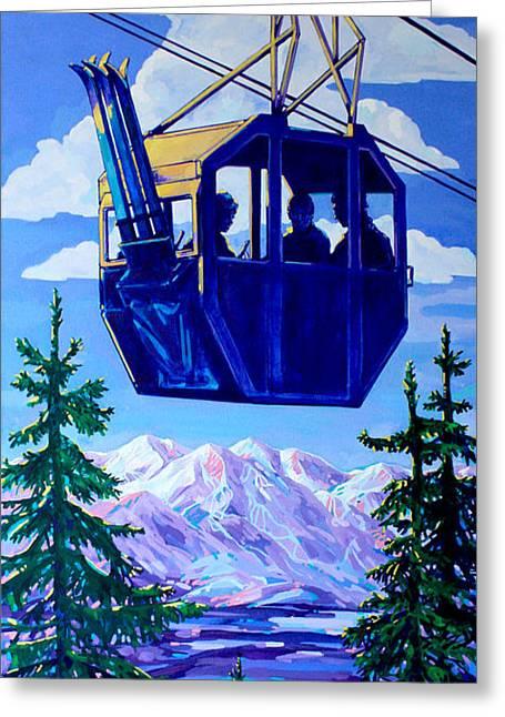 Ski Lift Greeting Cards - Ski Lift Greeting Card by Derrick Higgins