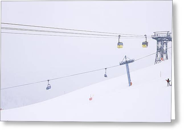 Repetition Greeting Cards - Ski Lifts In A Ski Resort, Arlberg, St Greeting Card by Panoramic Images
