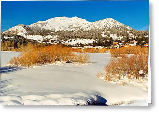 Ski Resort Greeting Cards - Ski Resort, Mammoth Mountain Ski Area Greeting Card by Panoramic Images