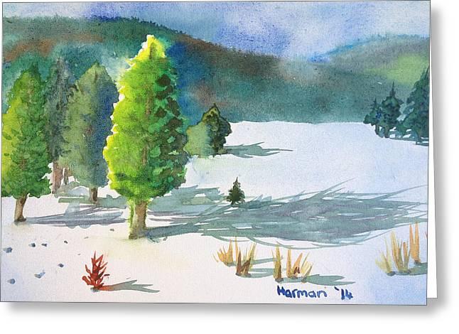 Skiing Art Cards Greeting Cards - Ski Season Greeting Card by Melanie Harman