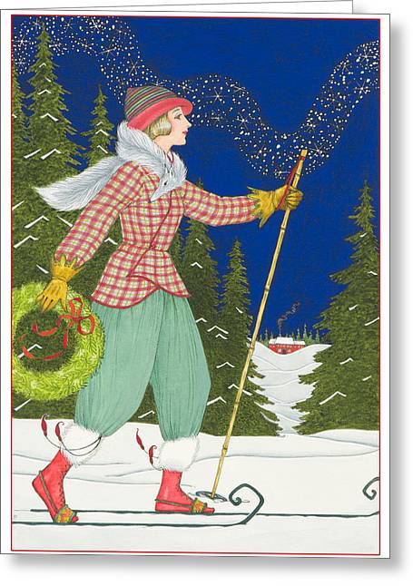 Ski Vogue Greeting Card by Lynn Bywaters