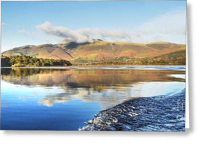 Wainwright Greeting Cards - Skiddaw Reflections 2 Greeting Card by Linsey Williams