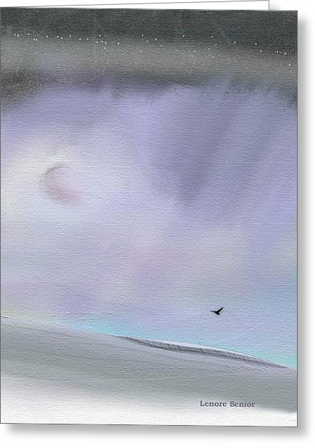 Abstract Rain Greeting Cards - Skies 4 Greeting Card by Lenore Senior