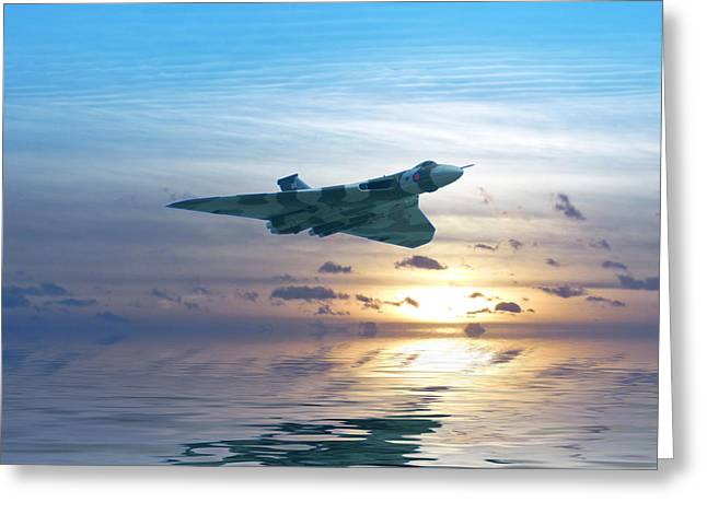Vulcan Greeting Cards - Skimming the surface Greeting Card by Sharon Lisa Clarke