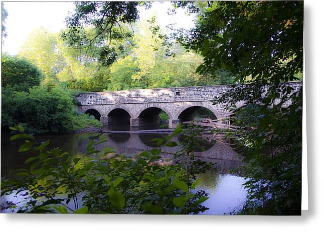 Germantown Greeting Cards - Skippack Creek Bridge Greeting Card by Bill Cannon