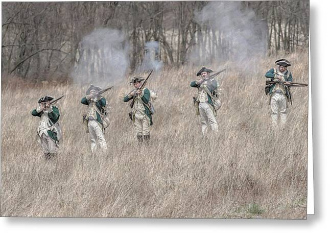 Skirmish Line Greeting Cards - Skirmish Line Two Large Greeting Card by Randy Steele