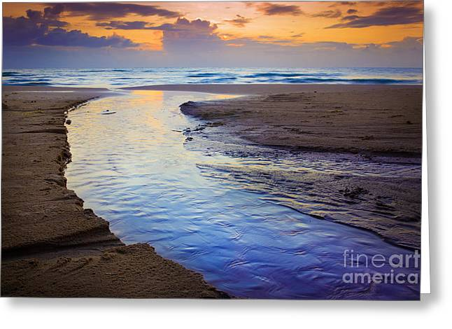 Skiveren Beach Greeting Card by Inge Johnsson