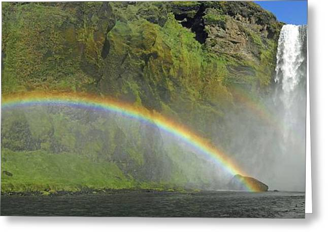 Skogafoss Waterfall Greeting Card by Tony Craddock