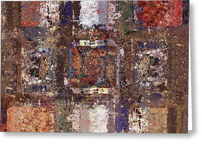 Beige Abstract Greeting Cards - Skouarioz - s04v02 Greeting Card by Variance Collections