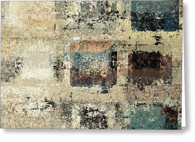 Beige Abstract Digital Art Greeting Cards - Skouarioz - s3cf2t Greeting Card by Variance Collections