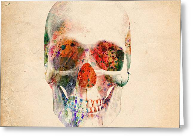 Funny Pop Culture Greeting Cards - Skull 12 Greeting Card by Mark Ashkenazi