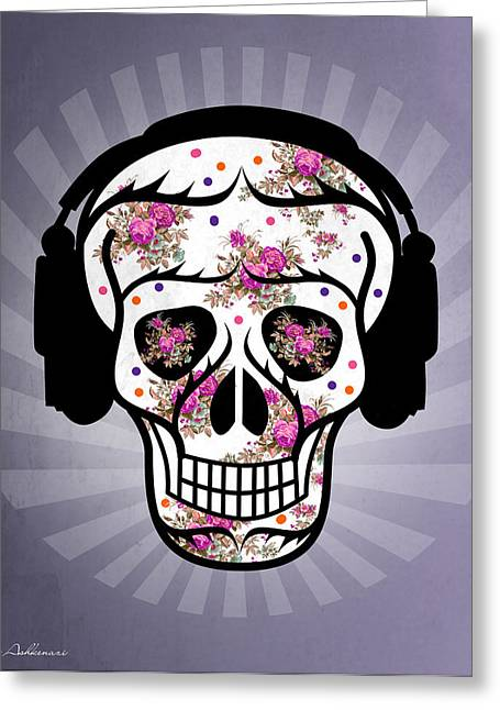 Skull 2 Greeting Card by Mark Ashkenazi