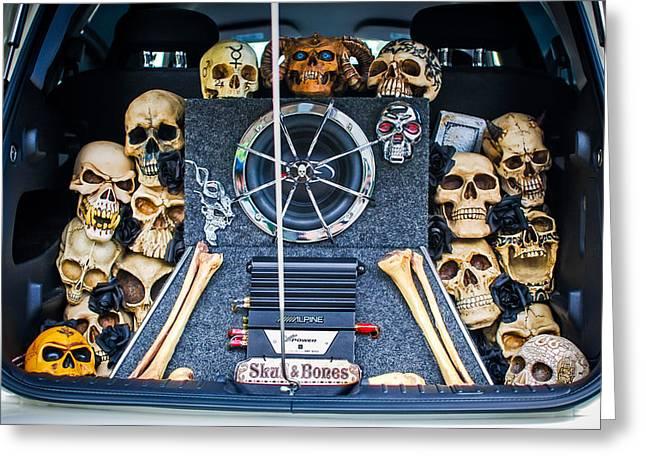Cruiser Greeting Cards - Skull and Bones - PT Cruiser Greeting Card by Jill Reger