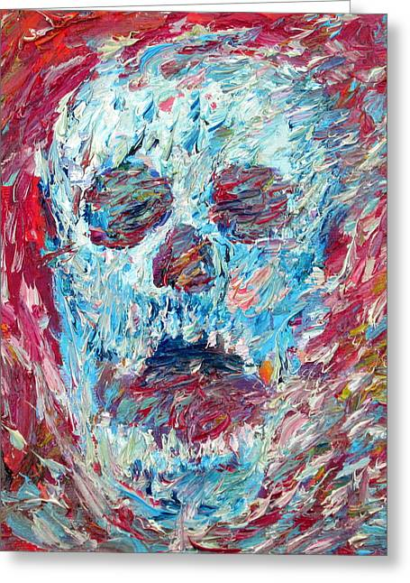 Shout Greeting Cards - Skull And Scream 2012 Greeting Card by Fabrizio Cassetta