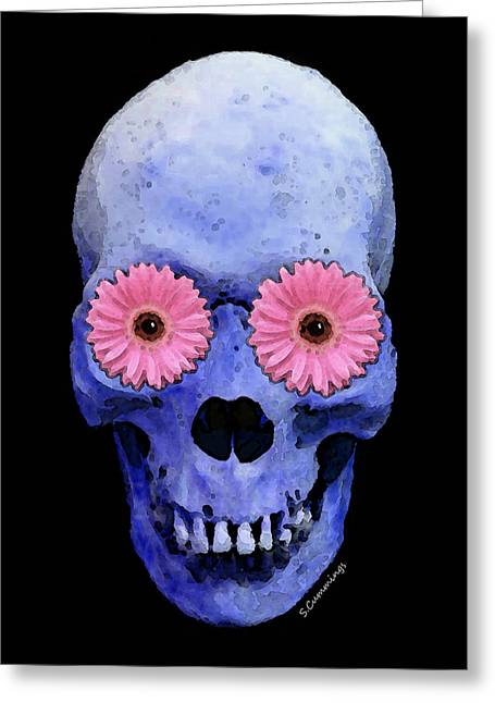 Skull Digital Art Greeting Cards - Skull Art - Day Of The Dead 1 Greeting Card by Sharon Cummings