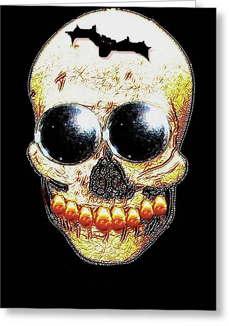 Freud Greeting Cards - Skull Art in a surrealism definition Greeting Card by Pepita Selles