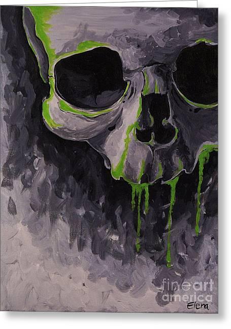 Alternative Skull Greeting Cards - Skull Greeting Card by Elena Spedale