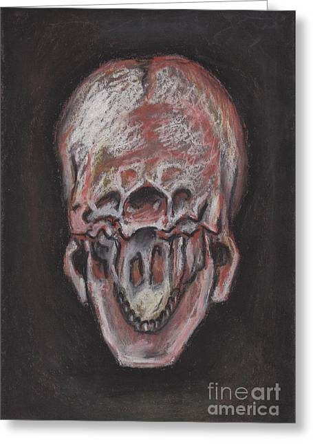 Pa Pastels Greeting Cards - Skull From Underneath Greeting Card by Chris Tetreault
