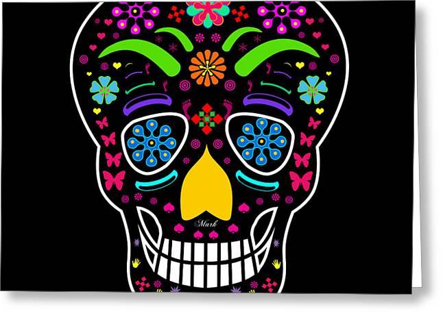 Skull Greeting Card by Mark Ashkenazi