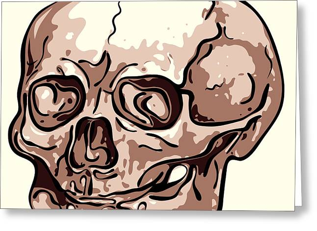 Creepy Digital Art Greeting Cards - Skull Greeting Card by Michal Boubin