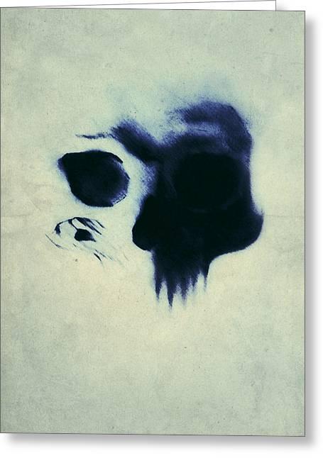 Drawing Greeting Cards - Skull Greeting Card by Nicklas Gustafsson
