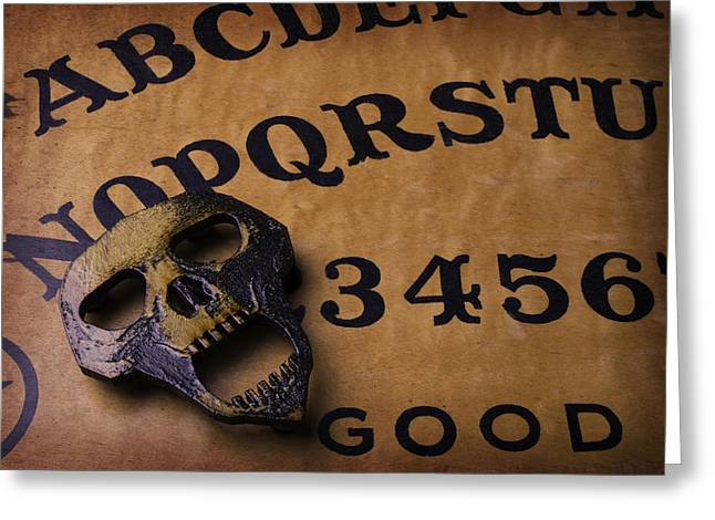 Skull Planchette Greeting Card by Garry Gay