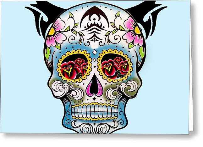Skull Pop Art  Greeting Card by Mark Ashkenazi