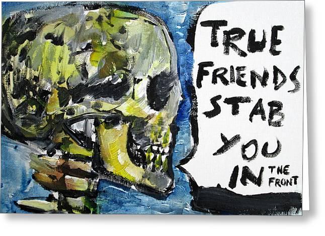 Oscar Wilde Paintings Greeting Cards - SKULL quoting OSCAR WILDE.2 Greeting Card by Fabrizio Cassetta