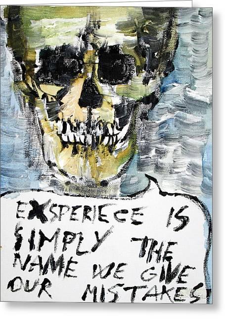 Oscar Wilde Paintings Greeting Cards - SKULL quoting OSCAR WILDE.4 Greeting Card by Fabrizio Cassetta