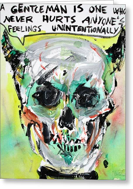 Oscar Wilde Paintings Greeting Cards - SKULL quoting OSCAR WILDE.8 Greeting Card by Fabrizio Cassetta