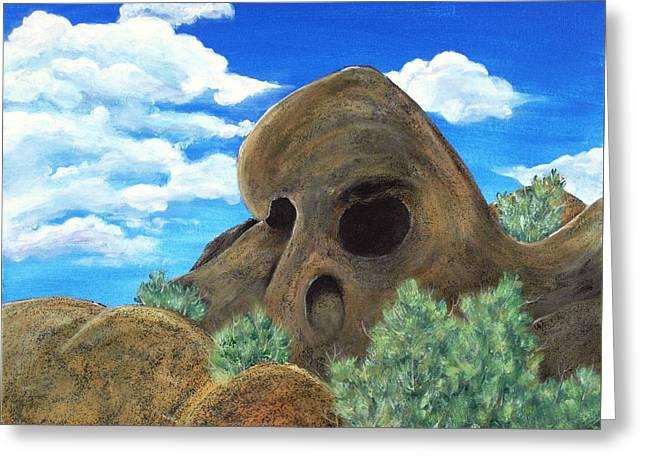 Skull Rock Greeting Card by Anastasiya Malakhova
