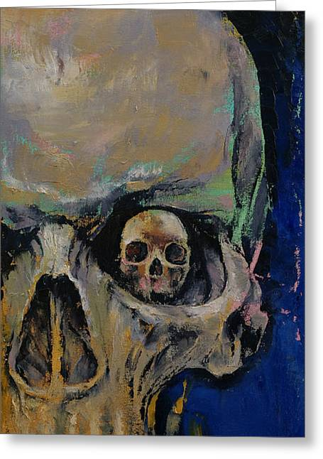Dark Art Greeting Cards - Vampire Greeting Card by Michael Creese