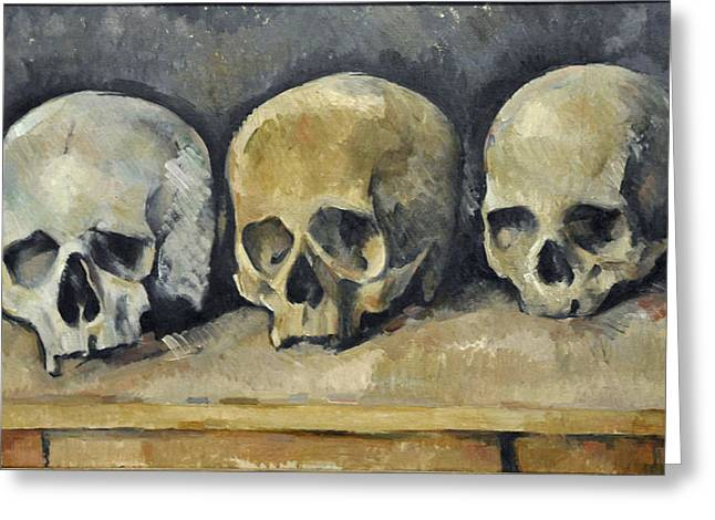 Skulls Greeting Card by Paul  Cezanne