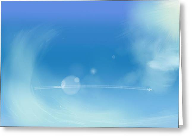 Sketchbook Digital Greeting Cards - Sky and plane Greeting Card by Step Sark