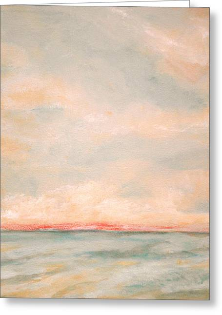 Peace Square Format Greeting Cards - Sky and Sea Greeting Card by Debi Starr