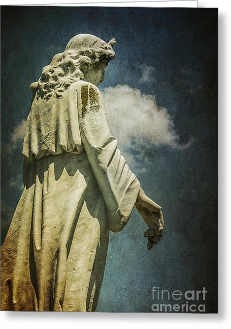 Reach Greeting Cards - Sky Angel Greeting Card by Terry Rowe