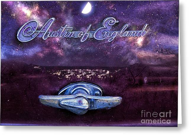 Austin At Night Greeting Cards - Sky at night Greeting Card by Gillian Singleton