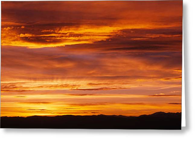 Romantic Photography Greeting Cards - Sky At Sunset, Daniels Park, Denver Greeting Card by Panoramic Images